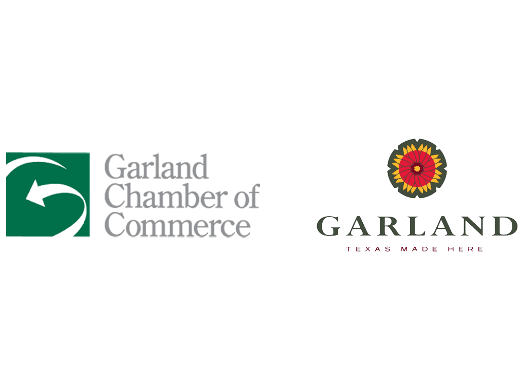 Logo for City of Garland and Garland Chamber of Commerce