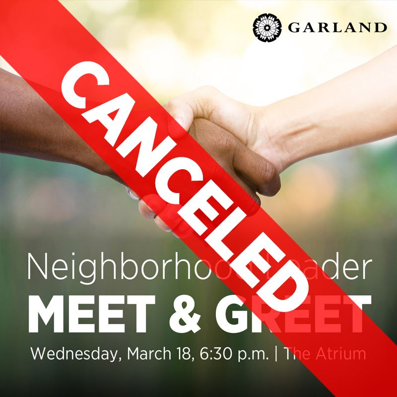 CANCELED: Neighborhood Leader Meet & Green, WEdnesday, March 18, 6:30 p.m. | The Atrium